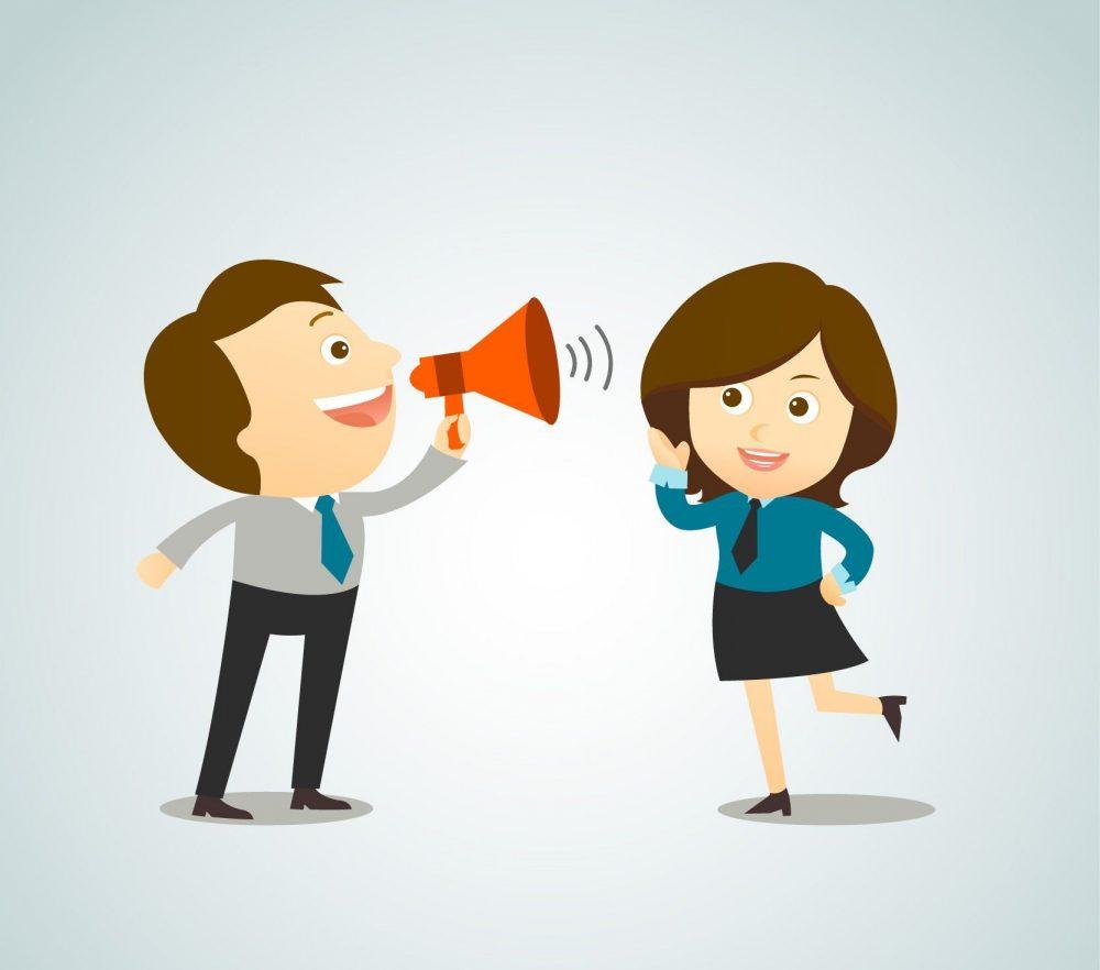 falar mais do que ouvir