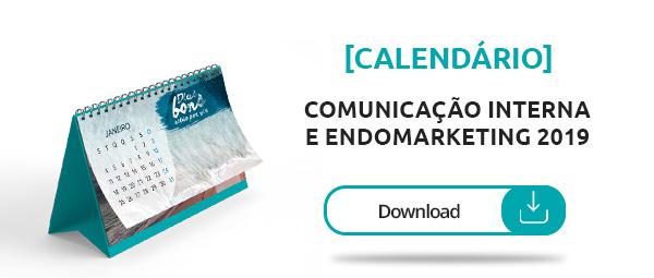 Calendário de Comunicação Interna e Endomarketing 2019